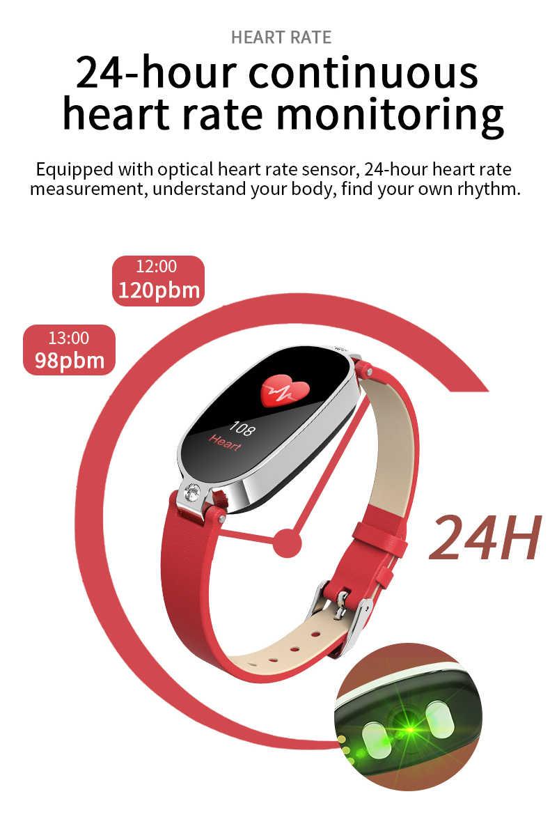 Ravi B79 Women Smart Watch ECG PPG Heart Rate Monitor Blood Pressure Pedometer Bracelet Girl Lady Waterproof IP67 Pk S3 S2