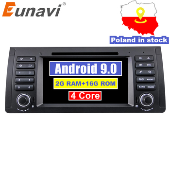 Eunavi 1 din Android 9.0 Car DVD GPS Navigation Stereo For BMW E53 E39 X5 1din Multimedia radio stereo player headunit 1024*600