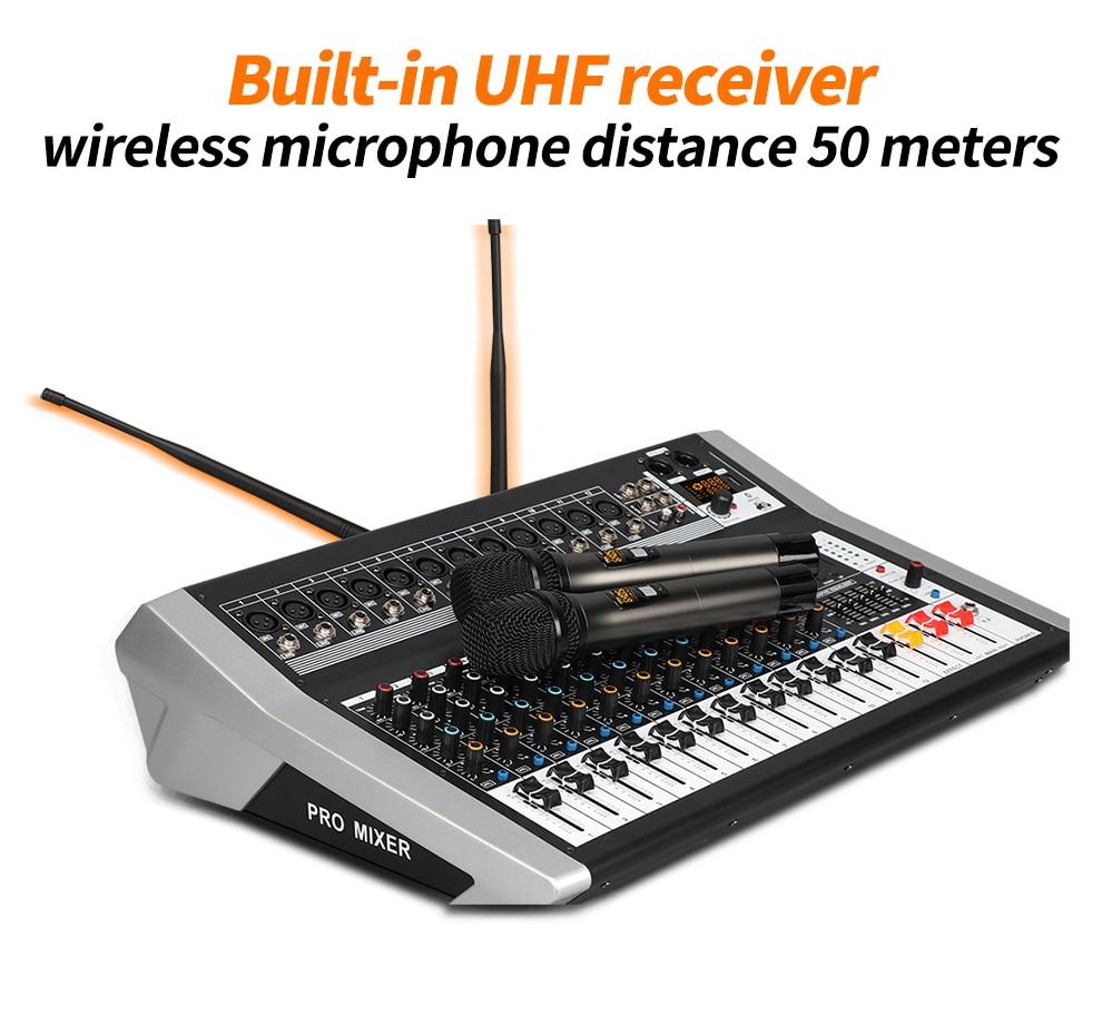 áudio sem fio microfone digital som mistura