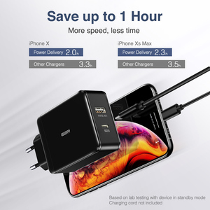 Image 4 - ESR PD Charger 30W USB C USB Dual Port Quick Charging Wall Charger 18W Fast Charger for iPhone 12 Pro Max SE 11 Pro XR XS Max