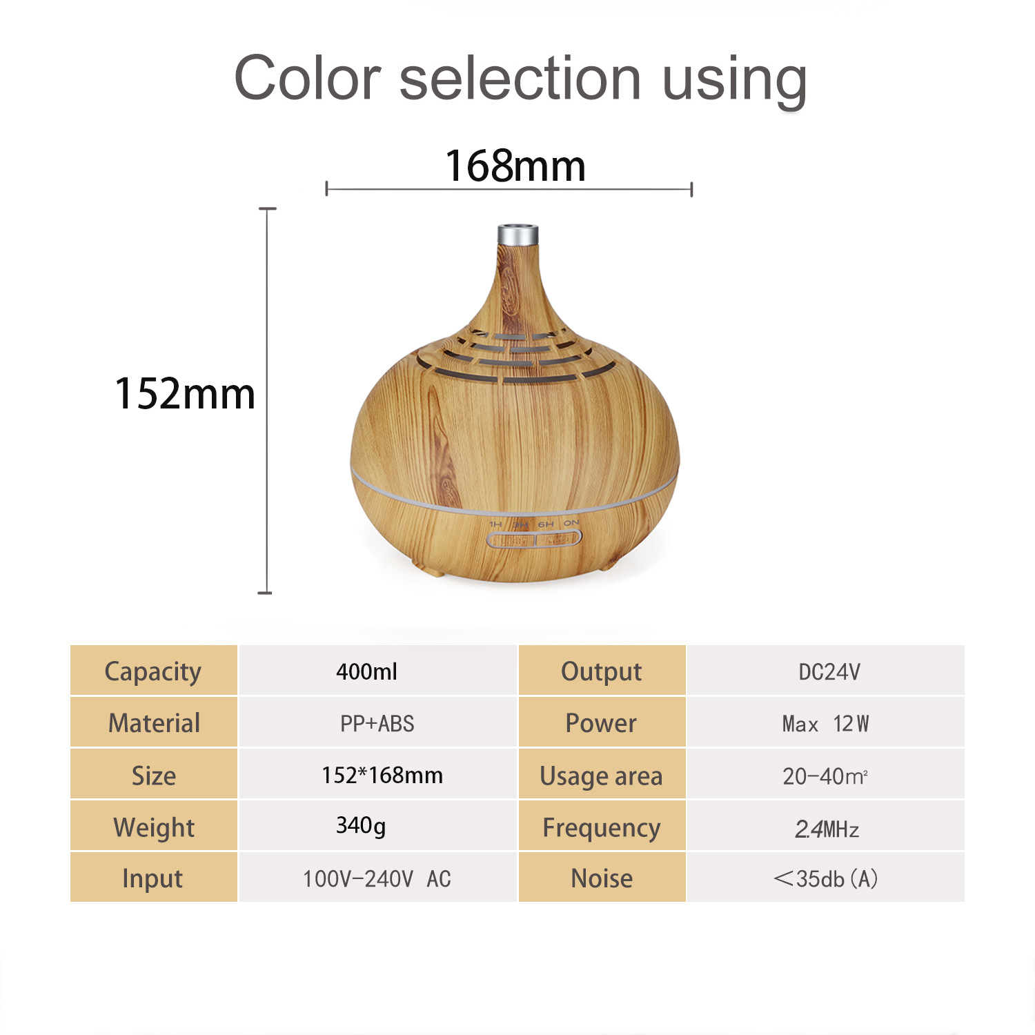 Hollow Aromatherapy Machine 400ml Humidifier Aroma Humidifier Creative Remote Control Wood Grain Fragrance Lamp in Humidifiers from Home Appliances