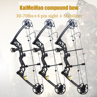1 Set 30 70 lbs Compound Bow IBO 320 fps Ourdoor Hunting Bow Fishing Shooting 16 31inch Draw Length Sports Game Bow And Arrow