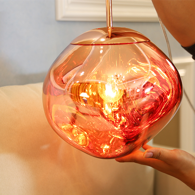 Современные светодиодные подвесные светильники DIXON из плавкой лавы, Подвесная лампа в стиле лофт, Подвесная лампа для спальни, подвесные св...