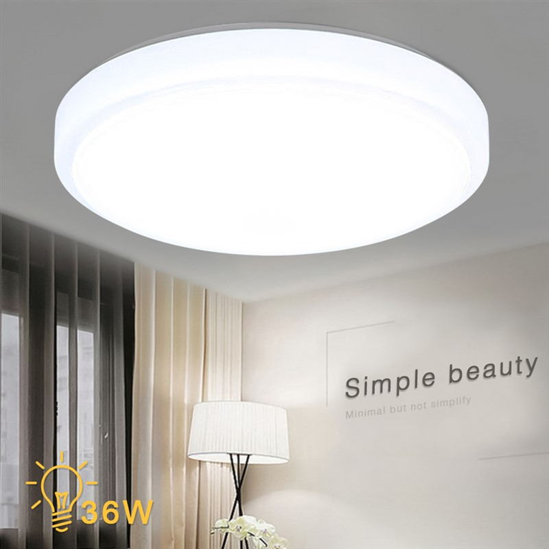 34cm 24-48W LED Ceiling Light White Light Mount Lamp Living Room Kitchen Bedroom Ceiling Lights Lampd Round Style High Quality