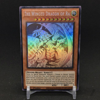 Yu Gi Oh skrzydlaty smok Ra angielski LED7 szary DIY zabawki Hobby Hobby kolekcje kolekcja gier Anime karty tanie i dobre opinie TOLOLO CN (pochodzenie) S-147 Dorośli Chiny certyfikat (3C) Fantasy i sci-fi