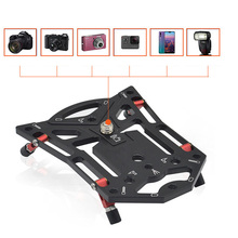 다기능 카메라 브래킷 빠른 릴리스 안정적인 플랫 삼각대베이스 Gopro 스포츠 카메라 전화 SLR 카메라 액세서리