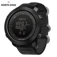 NORTH EDGE Men Sport Watch Altimeter Barometer Compass Thermometer Pedometer Worldtime Watches Digital Running Climbing Watches