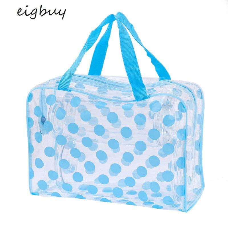 2020 New Ladies Transparent PVC Waterproof Wash Bag Dot Makeup Bag Travel Dust-proof Multi-functional Makeup Bag Makeup Bag