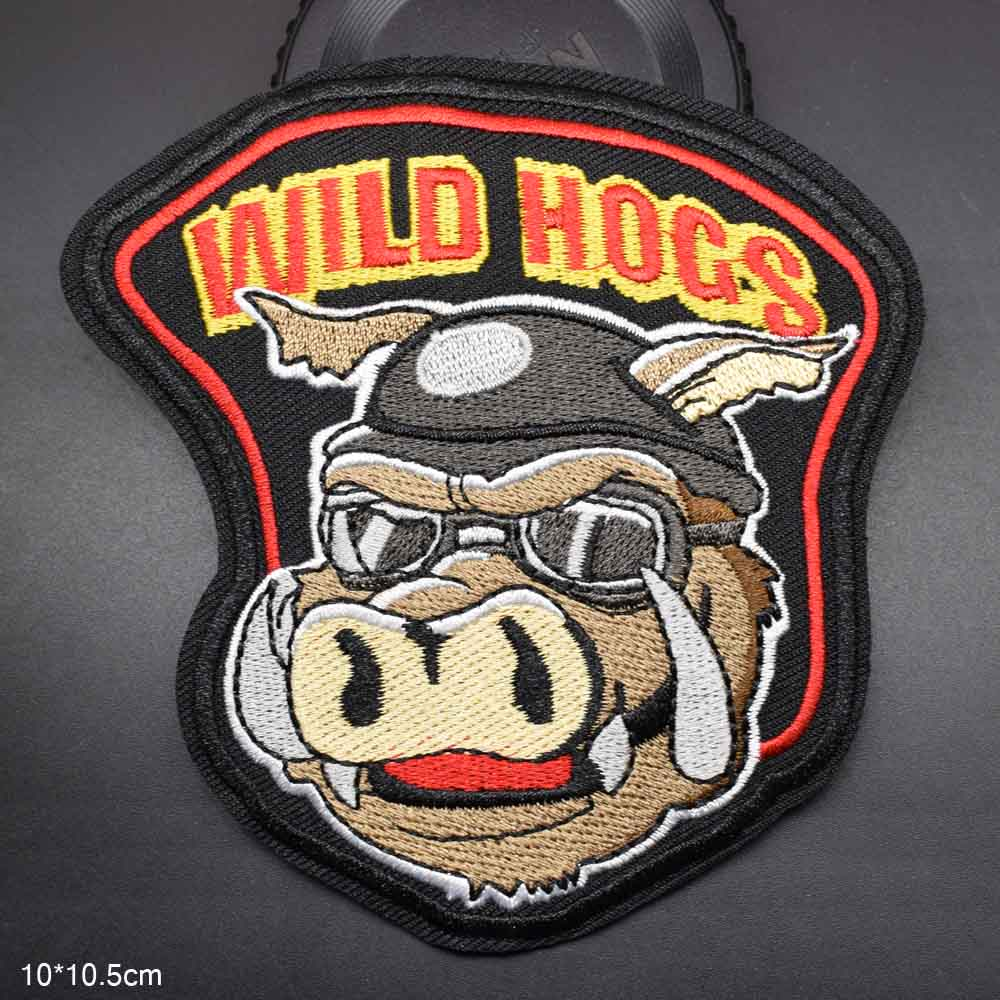 Cloth-Patch Hogs-Riders Embroidered Wild Garment-Accessories Iron-On Girls for Boys Stickers