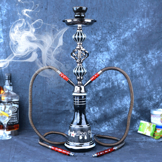 Double Hose Hookah with Pipe  1