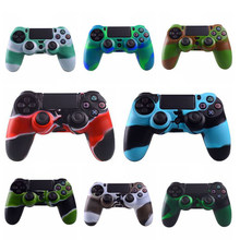 Camuflagem 4 para Play station 4 PS4 Cobrir A Pele para Playstation Controlador Sem Fios Dualshock 4 Caso De Borracha(China)
