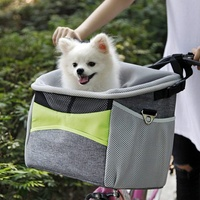 New Bicycle Pet Carrier Dog Bike Front Carrier with Small Pockets Bicycle Handlebar Small Pet Carrier with Shoulder Strap