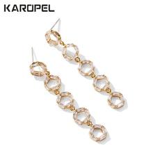 Elegant Romantic Style Geometric Round Dangle Earrings Jewelry Micro Paved AAA Cubic Zircon for Women