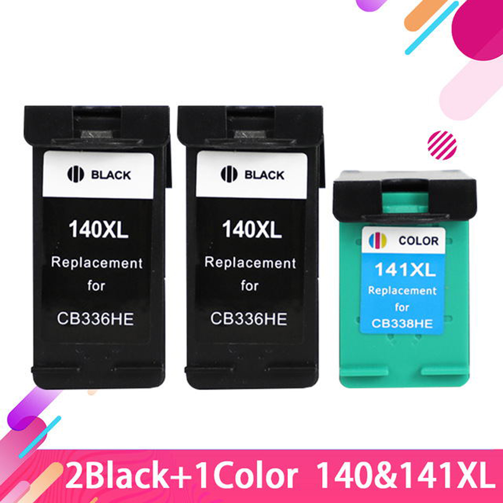Compatible Ink Cartridge for HP140 <font><b>140</b></font> <font><b>141</b></font> hp140XL for <font><b>HP</b></font> Photosmart C5273 C5283 C5293 D5363 C4473 C4480 C4483 C4583 C4593 image