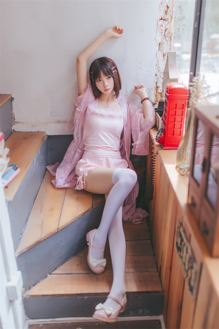 ★网络红人★疯猫ss-粉红日常cos[19P/184MB]插图(1)