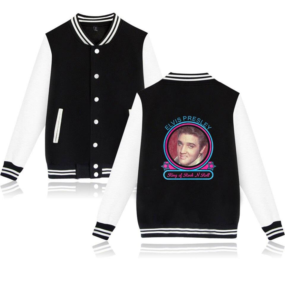 Jacket Casacas Printed Streetwear Plus-Size Kpop Para Homme Elvis Presley Hombre