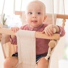 Columpio para bebé, silla colgante de madera para niños, juguete para jardín de infantes, canasta pequeña para interior, mecedora oscilante, juguete para bebé