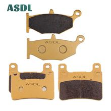 цена на Front and Rear Brake Pads for Suzuki GSXR750 GSXR600 GSXR 750 600 06-10 GSXR1000 GSXR 1000 07-10 GSX1300R Hayabusa 1300 #be