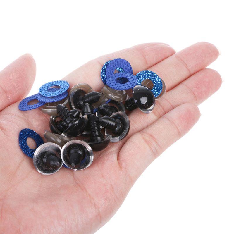 10 pièces 16mm 20mm 24mm 10 pièces Shinning yeux de poupée en plastique artisanat yeux bricolage pour ours en peluche jouets en peluche