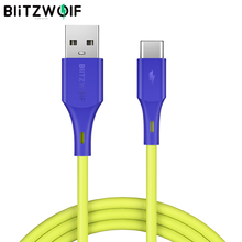 BlitzWolf 3A USB Type-C Fast Charging Data Cable 3ft/0.9m USB Charger Cord For OPPO Oneplus 7 For Xiaomi For Huawei P20 P30 PRO