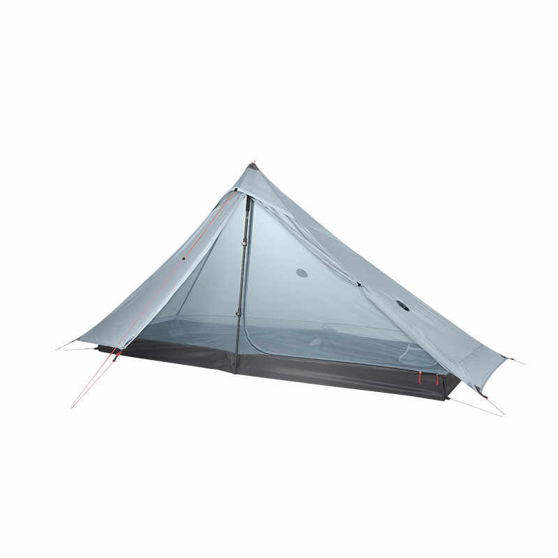 3F UL GEAR Lanshan 1 pro namiot Oudoor 1 osoba Ultralight namiot kempingowy 3 sezon profesjonalny 20D Silnylon namiot bez sztoku