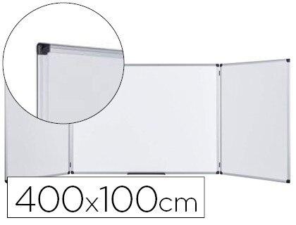 SLATE WHITE BI-OFFICE TRIPTICA LACADA MAGNETICA THERAPY OPEN 4000X1000 MM