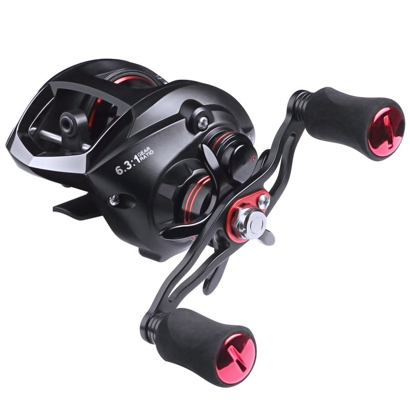 2021 New General Purpose Baitcast Fishing Reel 6.3:1 Left Right for Ray Frog Pencil Minnow Vibration Spoon Worm Durable Firm