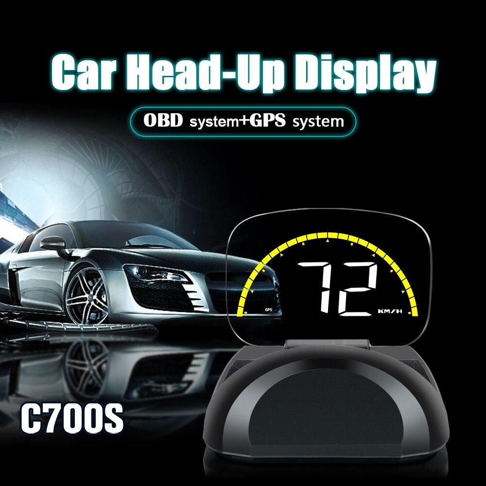 Купить автомобильный электронный hud head up display obd gps obd2 универсальный