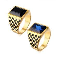Новый Модный богемный Синий Кристалл инкрустация кольцо для
