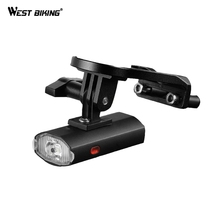WEST BIKING Bike Bicycle Light Waterproof Small Cycling USB Bicycle LED Light Front Flashlight With Bike Cycling Accessories