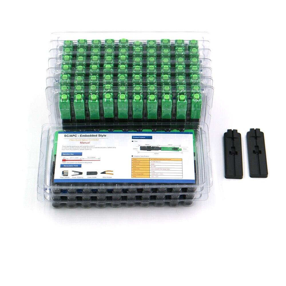 100PC/Lot 0.3dB FTTH Fiber Optic Quick Connector FTTH SC/APC SM Fast Connector