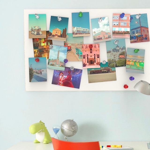 1 paquet = 10 pièces aimants forts colorés panneau daffichage punaises Message réfrigérateur autocollant tableau blanc aimant NdFeB magnétique couleur aléatoire