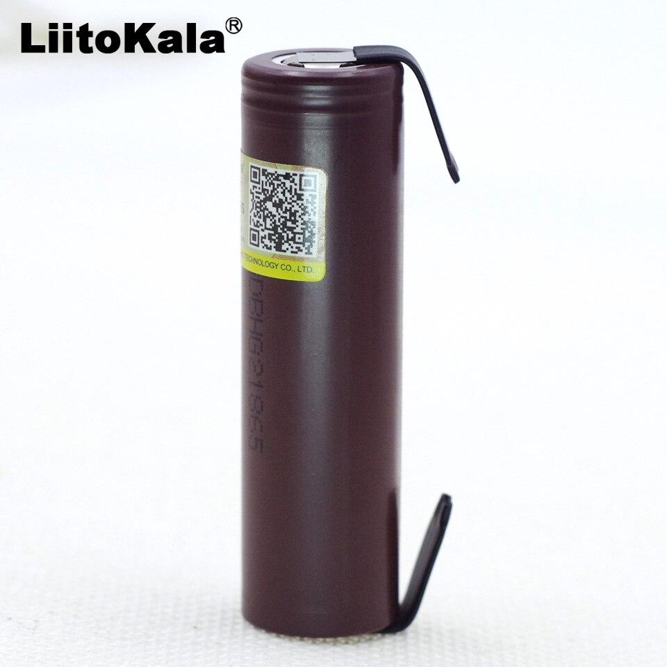 Аккумулятор Liitokala для электронных сигарет, батарея HG2, 18650, 3000 мА·ч, с непрерывной разгрузкой 30 А, никелевые полоски «сделай сам», 2019|rechargeable battery|liitokala 18650liitokala battery | АлиЭкспресс