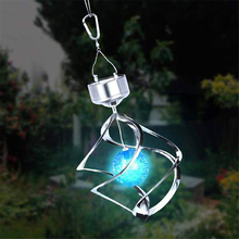 LED Solar Power lights Waterproof RGB Wind Spinner Lamp Outdoor Hanging Chime Light for Home Garden Decoration