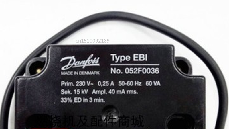 Free Shipping Danfoss Igniton Transformer EBI No.052F0036 Danfoss 15KV For Gas Burner Single Output 15KV Transformer
