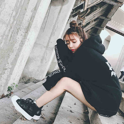 Hoodie Women's 2019 New Style Autumn And Winter Korean-style Students Loose-Fit Ulzzang Brushed And Thick Hooded INS Super Fire