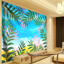 Tropical Plant Tapestry Wall Hanging Polyester Thin Bohemia Cactus Banana Leaf Beach Towel Yoga Rug Large Cloth