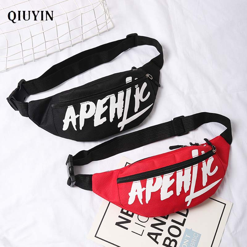 Qiuyin Hip Hop Bag Brand Luxury Women's/lladies/female Waist Bag Korean Purse Chest Phone Bag Belt Bum Fanny Pack Zipper  Pouch