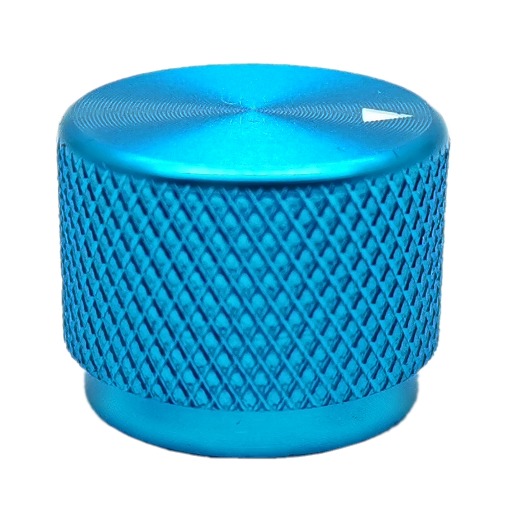 Solid  Aluminum Volume Knob Potentiometer Knob Power Amplifier Knobs  20 X 15mm - Blue