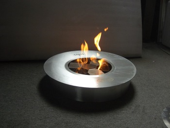 Hot Sale Bio Fuel Fire Modern Round Ventless Fireplace