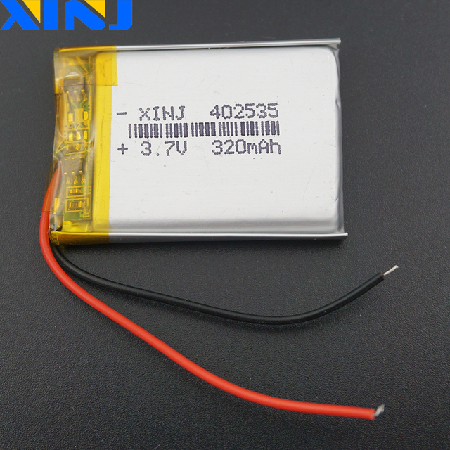 XINJ 3.7V 320 mAh Li Po Lithium Polymer Rechargeable Battery Li ion 402535 For GPS Sat Nav DVC DVR Driving recorder earphone MP3