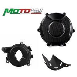 100% Carbon Fiber Motorcycle Enginer Cover Engine Chain Sprocket Cover Guard Matt Protection covers 3PCS For Ducati V4 V 4