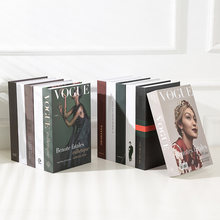 Модные открытые поддельные книги для украшения Роскошный домашний