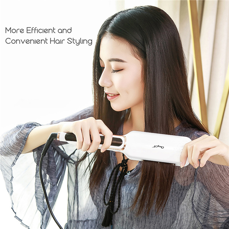 Professional Hair Straightener Flat Irons Ceramic Wide Plate LED Disply Hait Straightening Curling Temperature Adjustment Tools
