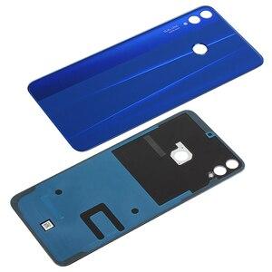 Image 5 - Оригинальная задняя крышка батарейного отсека для Huawei Honor 8X, стеклянный задний корпус Honor View 10 Lite, запасные части