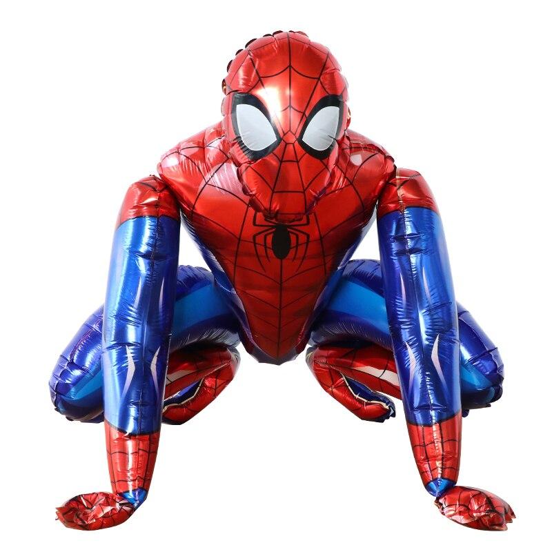 55x63cm 3d spiderman ceia herói balões da folha de alumínio festa de aniversário decoração do chuveiro do bebê suprimentos de ar globos crianças brinquedos