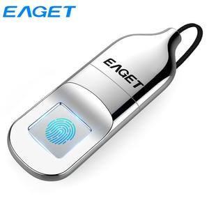 Eaget USB 2.0 Flash Drive 64GB 32GB Fingerprint Recognition Verification Privacy Encrypted Elegant Pen Drive Security U Disk FU5|USB Flash Drives|   -