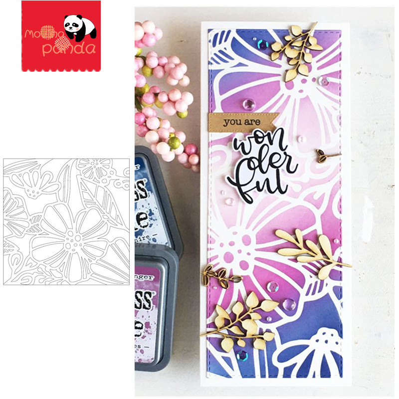 Spring Garden Background Stamp Stencil Metal Cutting Dies And Stamps For Painting Stencil Template Scrapbooking DIY Crafts Paper