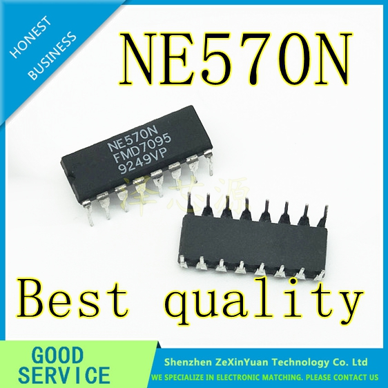 10PCS/LOT NE570N NE570 DIP-16 Best Quality
