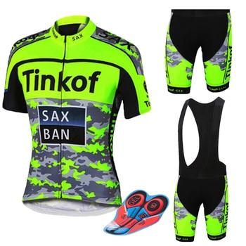 2018 camiseta de ciclismo de Tinkoff estilo de los hombres de manga...